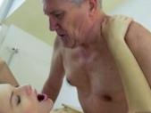 Lovely Teen Enjoying Sex With Grandpa