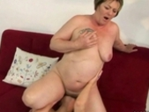 Fat Grandma And Hot Teen Enjoy Lesbian Sex