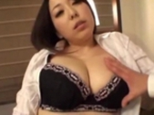 Office Lady Getting Her Big Tits Rubbed Sucking Guy..