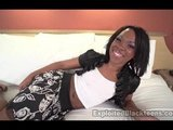 18yr old Black Teen w ASS takes Big Facial in 1st Amateur Video