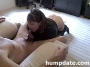 Sexy MILF gives nice blowjob and handjob