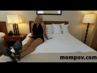 Big tits milf brings her fiance to porn shoot