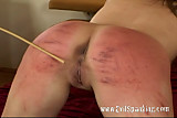 Blonde red ass spanking